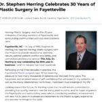 Herring Plastic Surgery reaches 30-year practice milestone.